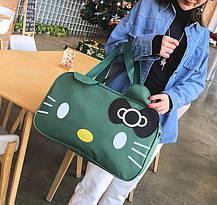 Большая спортивная сумка Hello Kitty для стильных девушек, фото 2