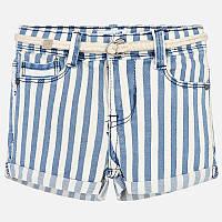 Синие шорты с ремнем для девочки 3209-9, Размер одежды 5/110см