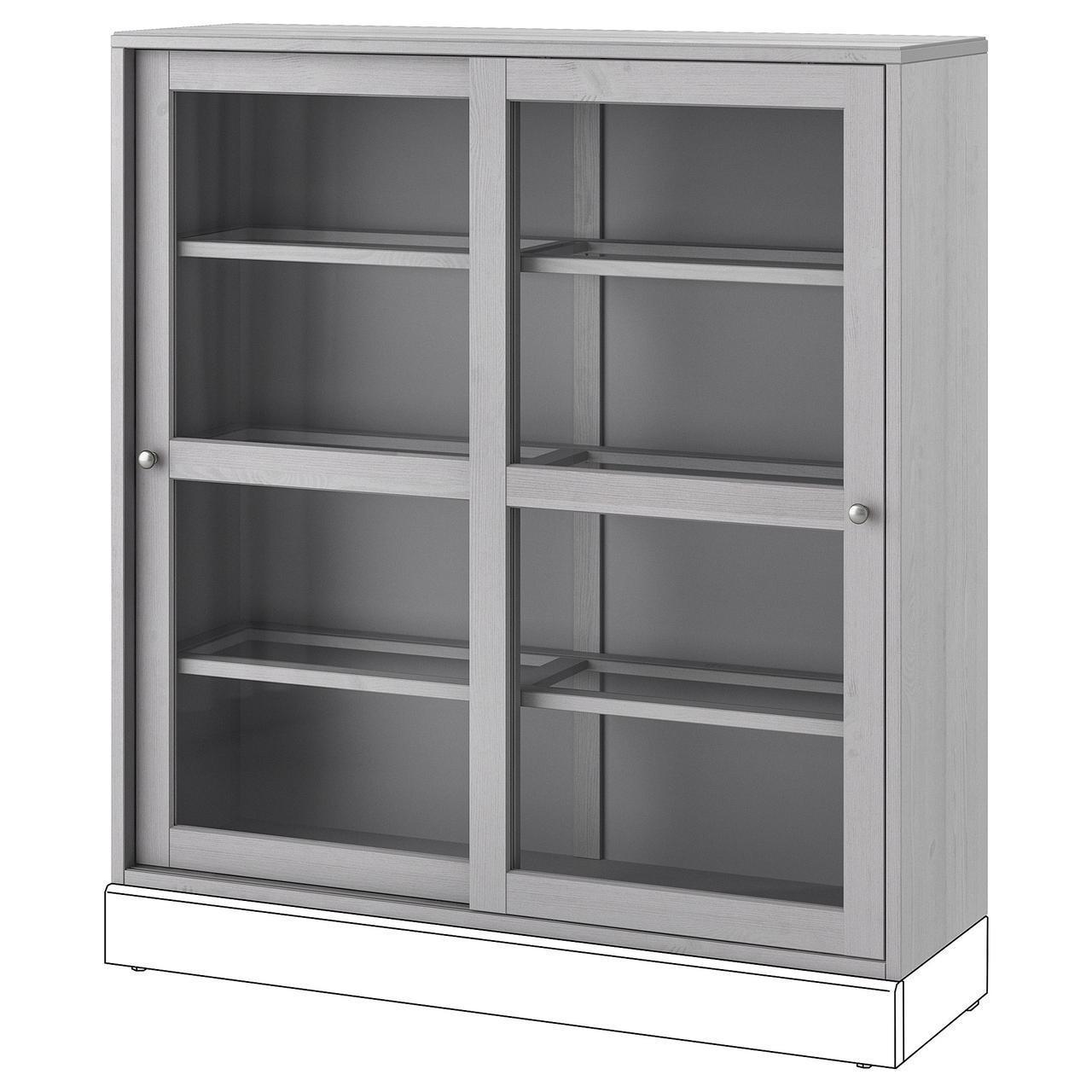 Сервант IKEA HAVSTA 121x123x35 см серый 504.221.73