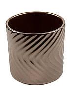 Декоративный вазон для цветов Penny 10х10см Коричневый