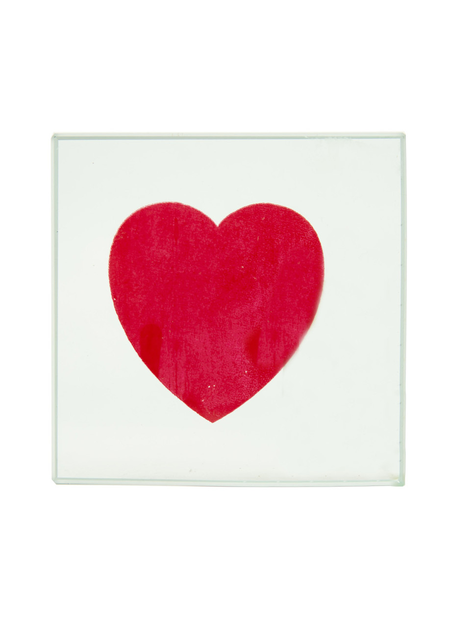 "Декоративное стекло ""Сердце"" Penny 9х9см Прозрачный, Красный"
