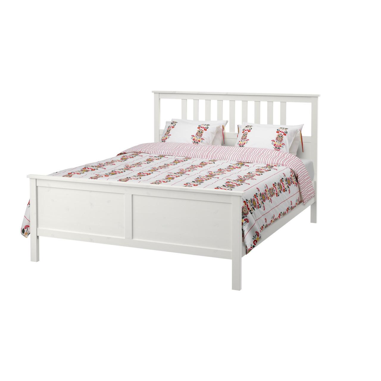 HEMNES Каркас кровати, белая морилка, Leirsund 290.197.92