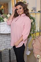 Костюм жіночий блузка з джинсами, з 52-62 розмір, фото 1
