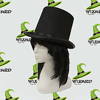 Шляпа Цилиндр фетр высокий черный