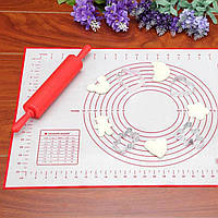 Набір 2 шт. килимки для розкочування і духовки. Для запікання силіконові килимки.