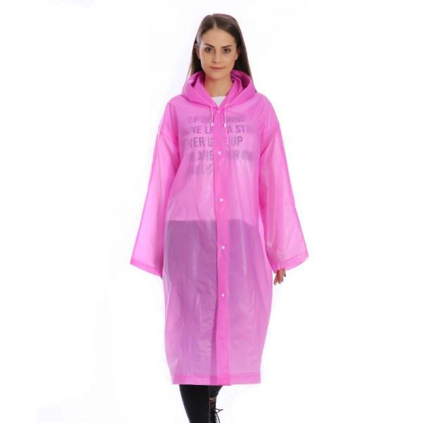 🔝 Женский дождевик / плащ от дождя, цвет - розовый, Raincoat, плащ дождевик - с доставкой по Украине | 🎁%🚚