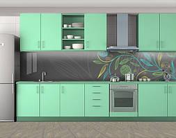 Кухонный фартук Карандашный завиток, Скинали с фотоизображением на самоклеящейся пленке, Рисунки, серый