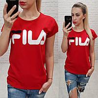 Женская футболка лето Фила красная Турция оптом