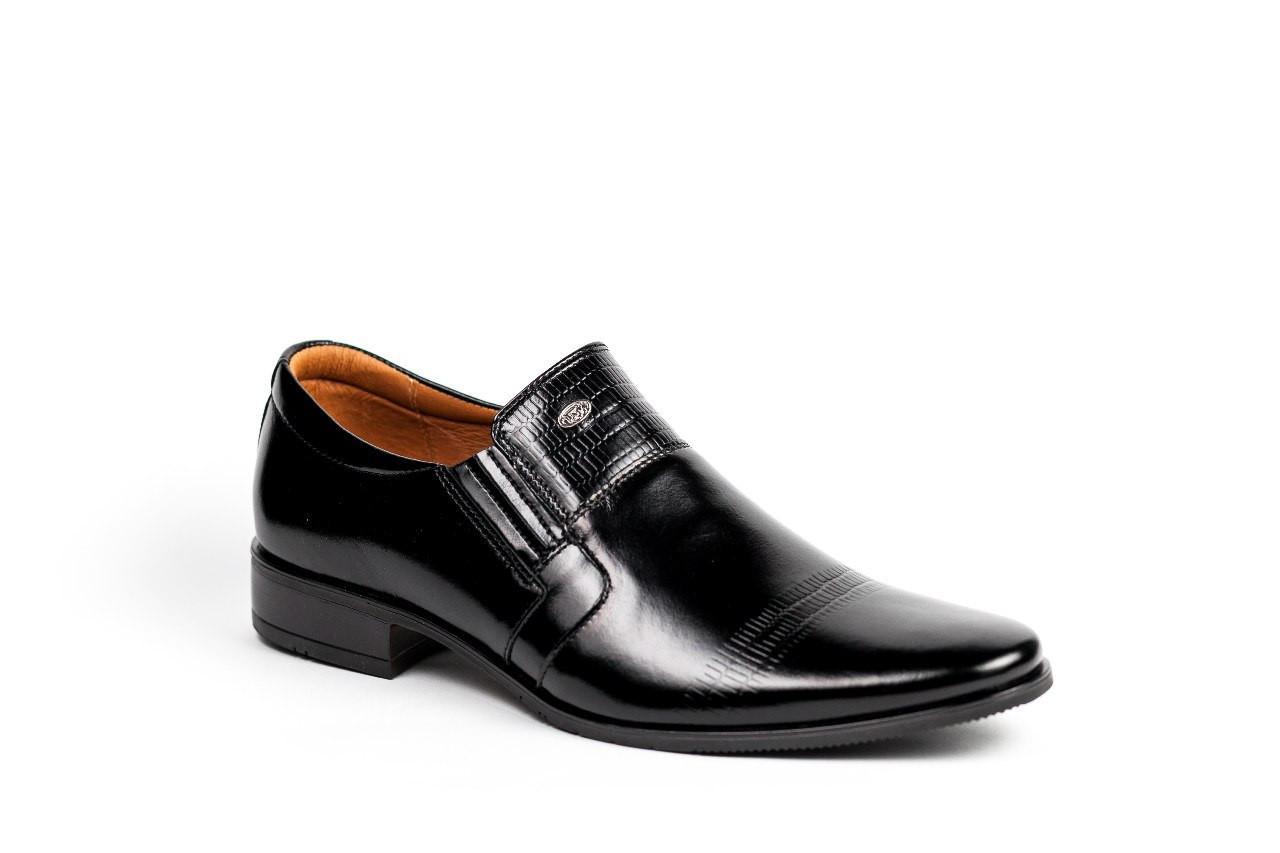 9446773af Мужские туфли Tapi черные из натуральной кожи - Интернет-магазин Trand  Market в Одессе