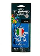 "Ароматизатор в машину ""Black"" TM UEFA EURO 2016 10х7см Голубой"
