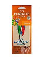 "Ароматизатор в машину ""Vanilla"" TM UEFA EURO 2016 10х7см Белый"