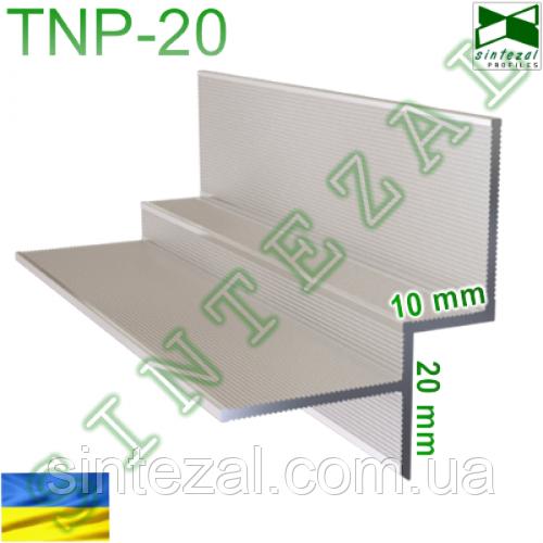 Пазовый профиль для создания теневого шва 10 мм.