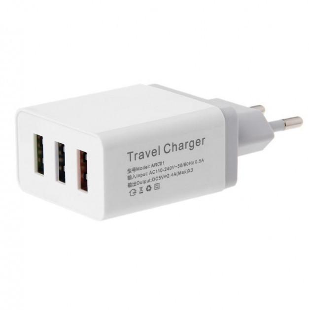 Адаптер Fast Charge AR 001 / 3 USB порта