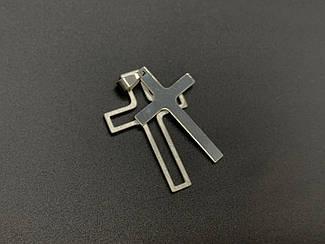 Подвески из нержавеющей стали. Крест двойной. 43х29мм