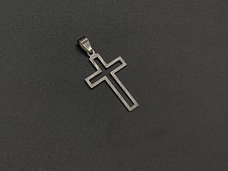Подвески из нержавеющей стали. Крест. 38х23мм