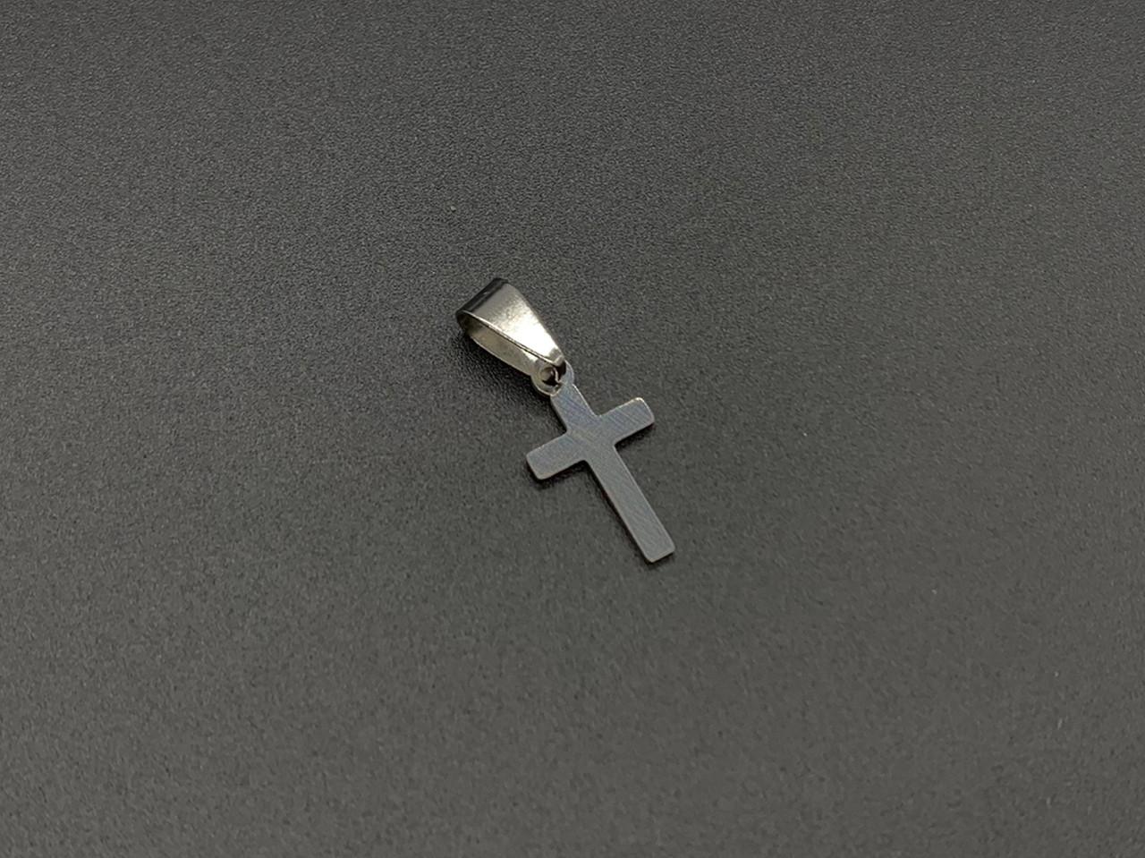 Подвески из нержавеющей стали. Крест. 20х11мм