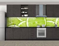 Кухонный фартук Лаймы, Кухонный фартук на самоклеящееся пленке с фотопечатью, Еда, напитки, зеленый, фото 1