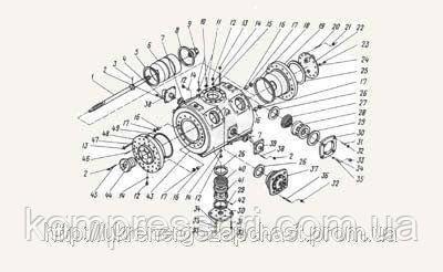Цилиндр и поршень, 2 ступень 2ВМ10-63/9, 4ВМ10-120/9
