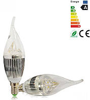 """Лампа светодиодная (""""свеча на ветру"""") E14 4Вт 6500K 220В, фото 1"""