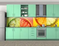 Кухонный фартук Яркие цитрусы, Скинали с фотоизображением на самоклеящейся пленке, Еда, напитки, оранжевый