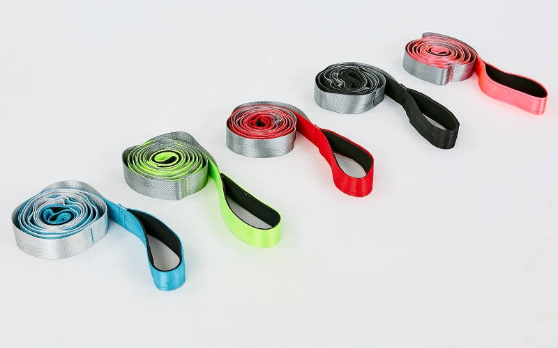 Стрічка для розтяжки FI-8369 Stretch Strap (10 петель, поліестер, р-р 4х220см, кольори в асортименті)Z