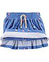 """Юбка-шорты для девочки OshKosh синего цвета """"Мороженое"""" бка шортиками детская хлопковая, фото 2"""