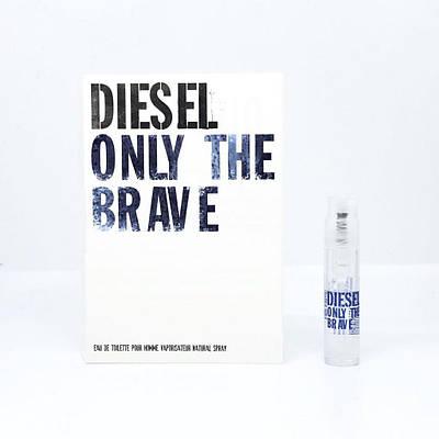 Восточные мужские духи с запахом кожи DIESEL Only The Brave ПРОБНИК 1,2ml,  древесный свежий аромат ОРИГИНАЛ