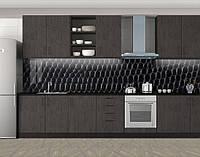 Кухонный фартук Змеиная кожа, Скинали с фотоизображением на самоклеящейся пленке, Текстуры, фоны, черный, 600*3000 мм, фото 1