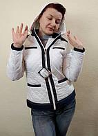 Демисезонная женская белая куртка с капюшоном, Lawine