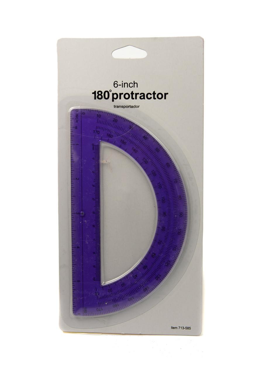 Транспортир Penny 15,5см Фиолетовый, Черный