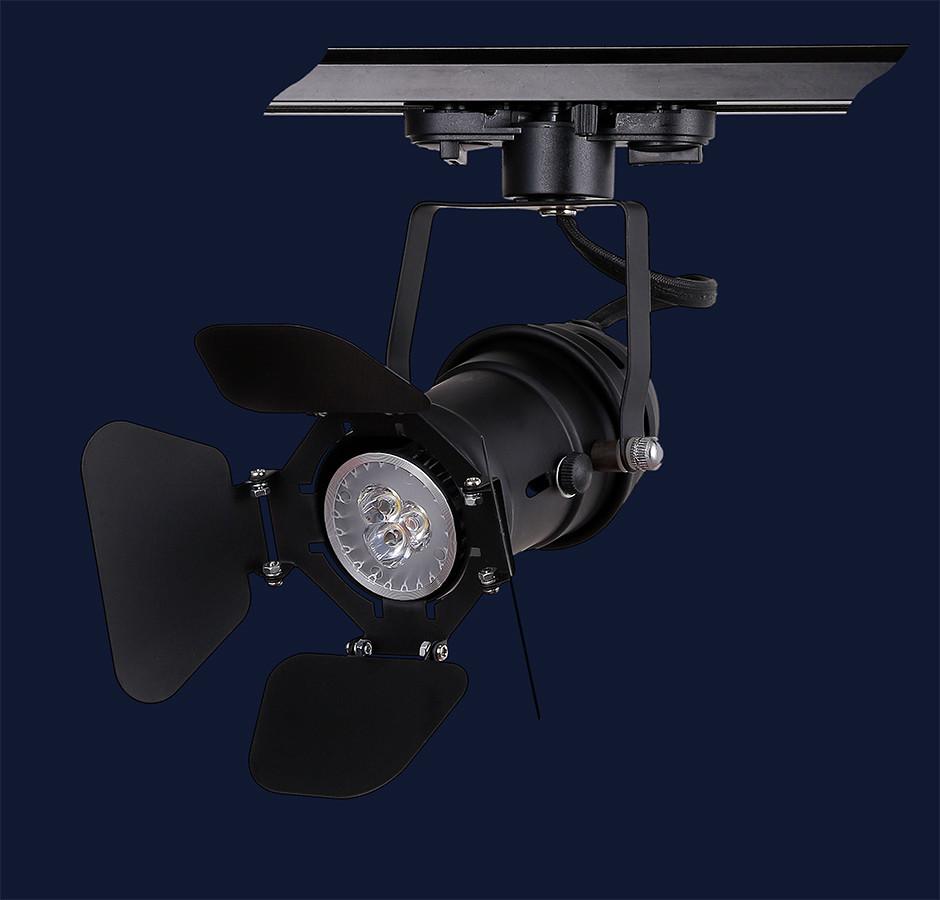 Прожектор на треке в стиле Лофт Levistella 75229 BK