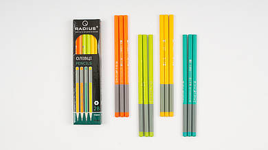 Графитные карандаши RADIUS жесткостью 2В