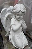 Ангелы из мрамора. Скульптура Ангела девочки № 88 из литьевого мрамора 50 см, фото 4