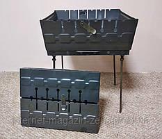 Мангал чемодан складной на 6 шампуров
