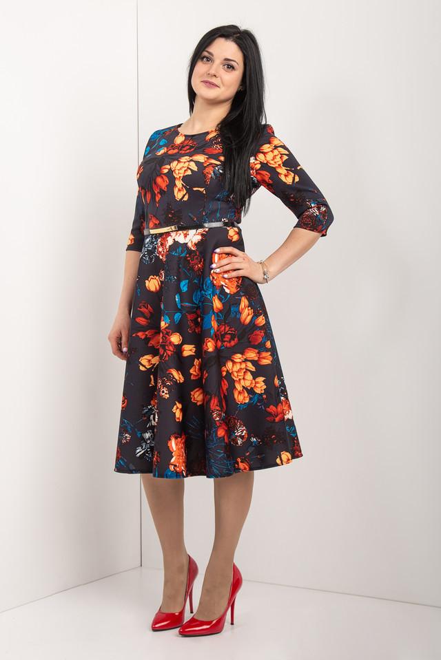0f5998cff66 Женское платье с цветочным принтом - EVA LOOK в Хмельницком