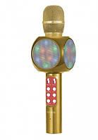Беспроводной Bluetooth микрофон для караоке WSTER WS-1816, золотой