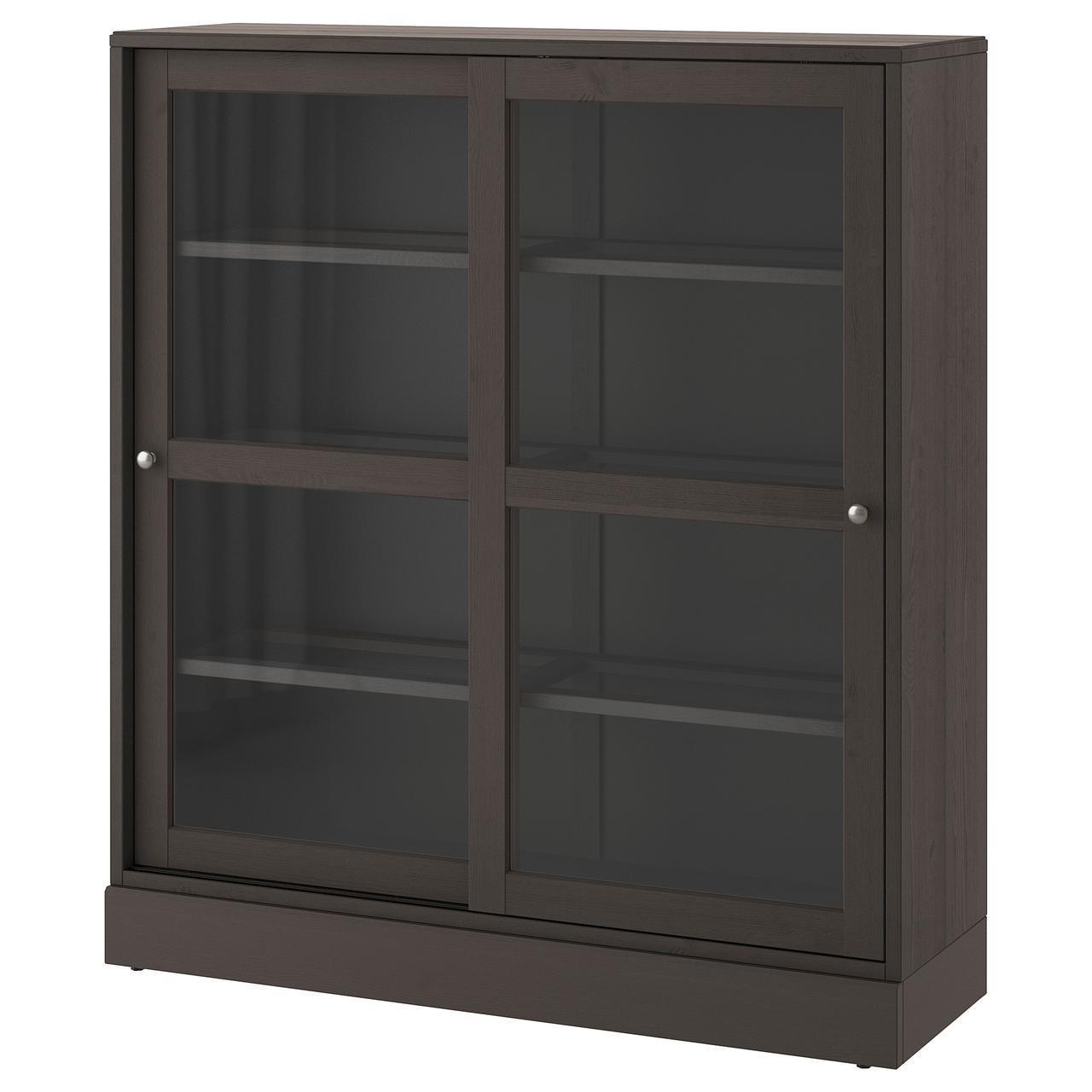 Сервант IKEA HAVSTA 121x134x37 см темно-коричневый 492.768.70