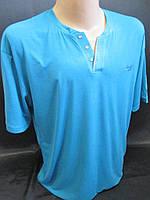 Мужские футболки большого размера однотонные.
