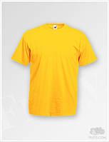 Футболки желтые для печати Fruit of the Loom