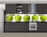 Кухонный фартук Зеленое Яблоко, Самоклеящаяся стеновая панель для кухни, Еда, напитки, зеленый