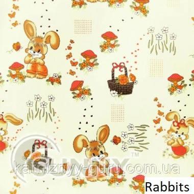 Рулонные шторы для окон в открытой системе Sunny, ткань Rabbits