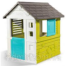 Садовий будиночок дитячий ігровий Райдужний зі ставнями Smoby 810710