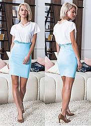 Джинсовая юбка в расцветках  16180