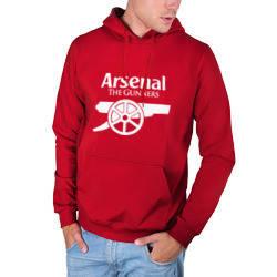 Мужская толстовка с принтом Арсенал красная