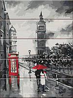 "Картина по номерам на дереве ""Старый Лондон"" 30*40 см, фото 1"