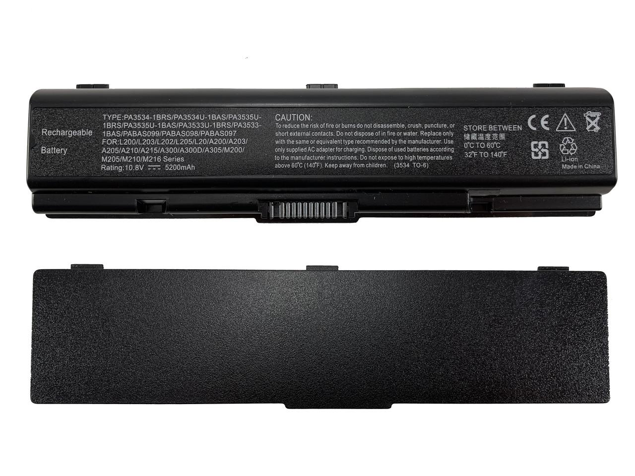 Батарея для ноутбука Toshiba PA3534 (A200, A215, A300, A350, A500, L300, L450, L500) 10.8V 5200mAh