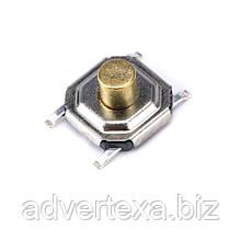 Тактильная кнопка 4x4x3 мм, микропереключатель SMT 4-контактный