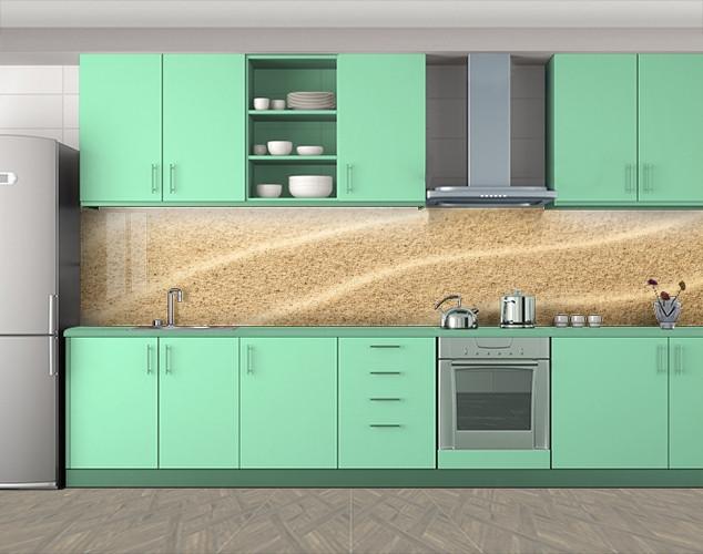 Кухонный фартук Песок, Кухонный фартук с фотопечатью, Текстуры, фоны, бежевый