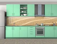 Кухонный фартук Песок, Кухонный фартук с фотопечатью, Текстуры, фоны, бежевый, фото 1