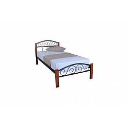 Ліжко металеве 90х200 см Еліс Люкс Вуд Melbi